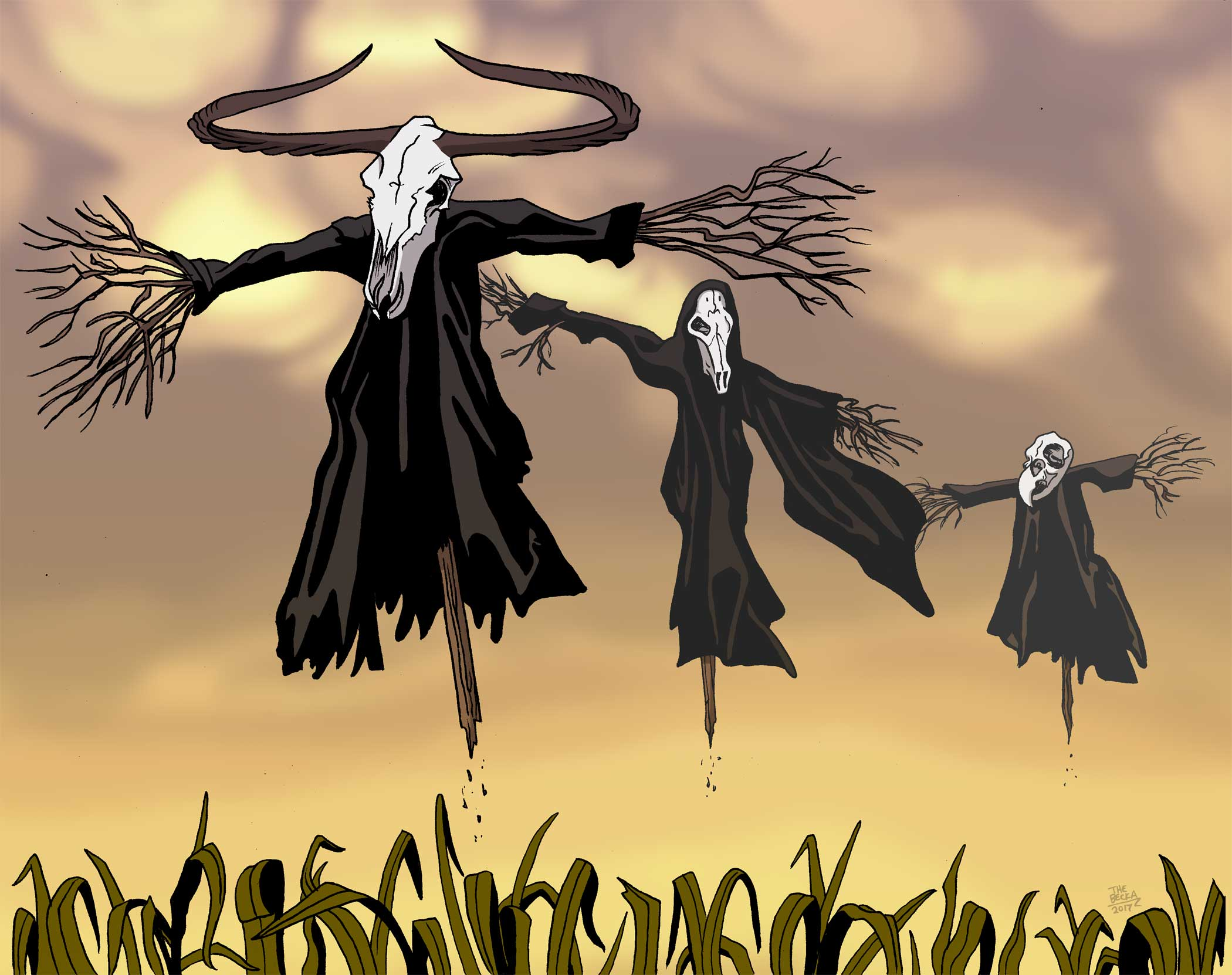 The Floating Scarecrows